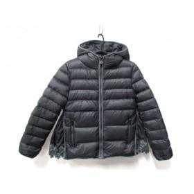 【中古】 モンクレール ダウンジャケット サイズ12/152CM レディース 美品 MARGUERITES ダークグレー