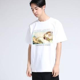 ティーケー タケオ キクチ tk. TAKEO KIKUCHI アートコレクション「アダムの創造」Tシャツ (ホワイト)