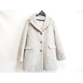 【中古】 ドゥクラッセ DoCLASSE コート サイズ9 M レディース ライトグレー 冬物