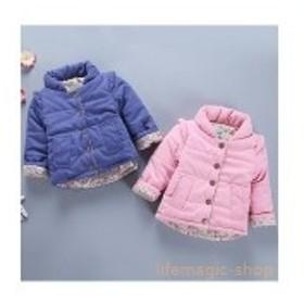 中綿コート綿入れコートアウターキッズオーバーコート女の子コート冬服軽量子供服