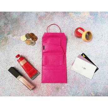 『カバンにこれだけ入れて出掛けよう』3mm極薄財布<ピンクピンク>レディース ◯送料無料◯