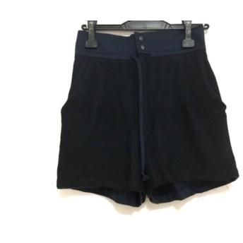 【中古】 トーガ TOGA ショートパンツ サイズS レディース 黒 ネイビー メッシュ