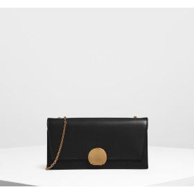 サーキュラー プッシュロックロングウォレット / Circular Push Lock Long Wallet (Black)