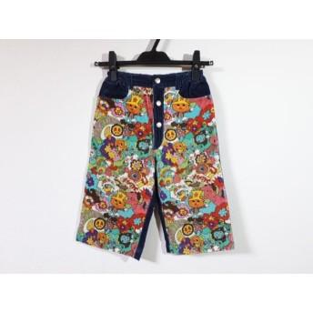 【中古】 ミニK MINI-K パンツ サイズ140 レディース ダークネイビー 白 マルチ ベロア/子供服