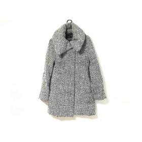 【中古】 リエンダ rienda コート サイズM レディース 白 黒 冬物