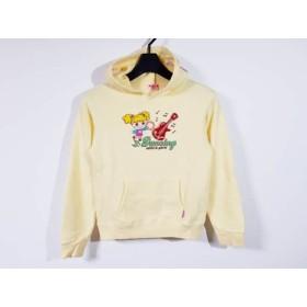 【中古】 ミニK MINI-K パーカー サイズ140 レディース イエロー 刺繍/子供服