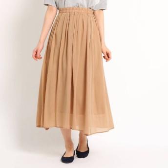 デッサン Dessin 【洗える】キュプラコットンボイルスカート (ベージュ)
