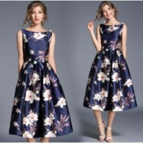 パーティードレス 結婚式 花柄 ワンピース フォーマルドレス お呼ばれ ドレス フォーマル  送料無料