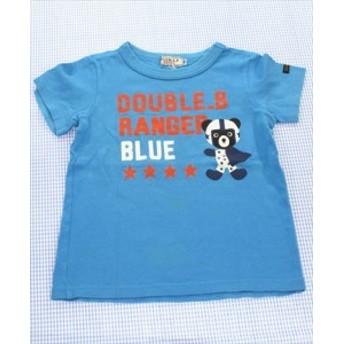 ミキハウスダブルビー MIKIhouse DOUBLE.B Tシャツ 半袖 100cm 青系 クマ トップス 男の子 キッズ 子供服 通販 買い取り