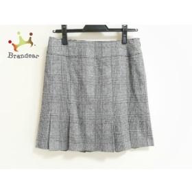 ピンキー&ダイアン スカート サイズ38 M レディース 美品 グレー チェック柄/千鳥格子     スペシャル特価 20190817