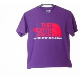 【中古】 ノースフェイス THE NORTH FACE 半袖Tシャツ サイズS レディース パープル レッド 白