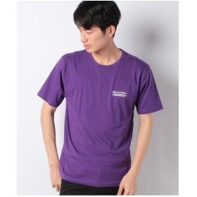 WEGO WEGO/ストリートモチーフTシャツ(パープル)【返品不可商品】