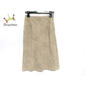 ニジュウサンク 23区 スカート サイズ38 M レディース 美品 ベージュ×ライトグリーン×黒   スペシャル特価 20190812