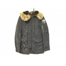 【中古】 ヒステリック HYSTERIC コート サイズF レディース 黒 ライトブラウン 冬物/ファー