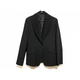 【中古】 スペッチオ SPECCHIO ジャケット サイズ40 M レディース 美品 黒 襟レース着脱可