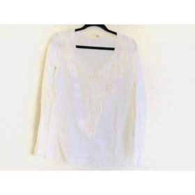 【中古】 シェルビーノストリート SCERVINO Street 長袖Tシャツ サイズXS レディース 白 刺繍