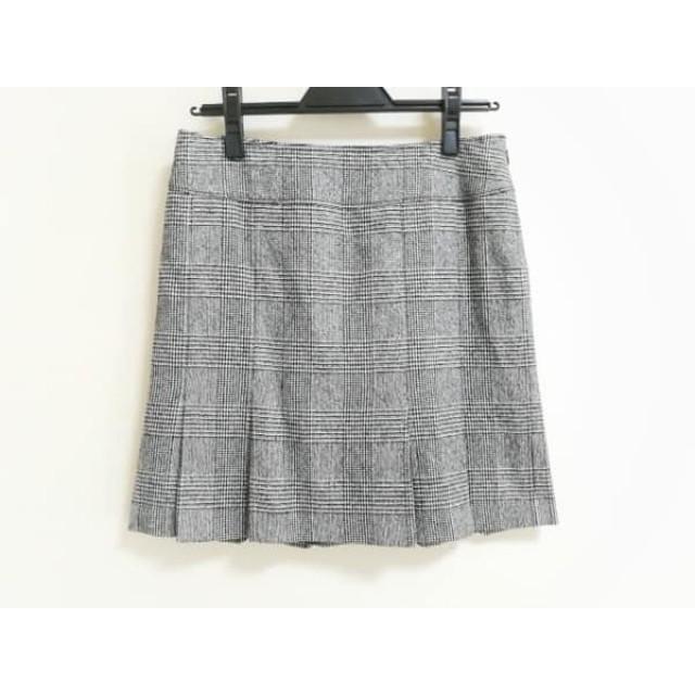 【中古】 ピンキー&ダイアン Pinky & Dianne スカート サイズ38 M レディース グレー チェック柄/千鳥格子