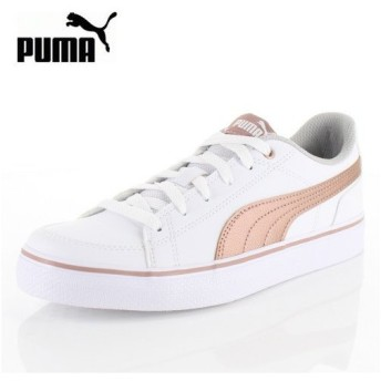 PUMA プーマ キッズ レディース コートポイント VULC V2 BG 362947-14 Puma White-Rose Gold スニーカー カジュアル ホワイト ピンク