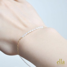 再販x4[14kgf]ミニ パール ブレス、極小 真珠 ブレス