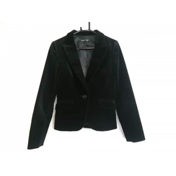 【中古】 インディビ INDIVI ジャケット サイズ38 M レディース 黒 ベロア/春・秋物