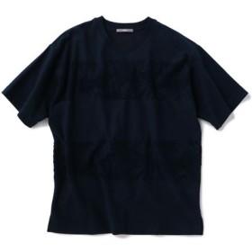 [マルイ]【セール】SU: リーフ ジャカード パイル ボーダー Tシャツ/シップス(メンズ)(SHIPS)