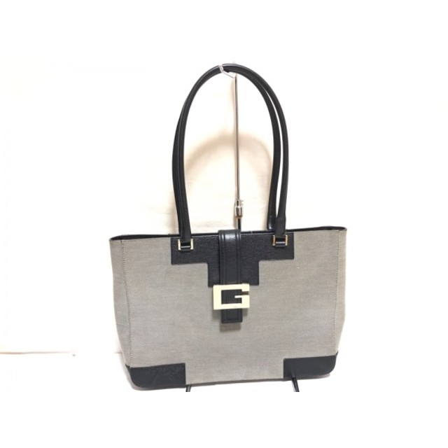 low cost ca4d0 36729 中古】 グッチ GUCCI トートバッグ - 0021109 グレー 黒 ...
