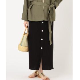 SHIPS for women / シップスウィメン コットンフロントボタンニットスカート