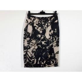 【中古】 マックスマーラ Max Mara スカート サイズ36 S レディース 美品 黒 ベージュ グレー