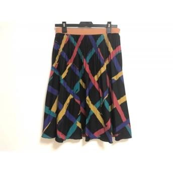 【中古】 ロイスクレヨン Lois CRAYON スカート サイズM レディース 黒 イエロー マルチ