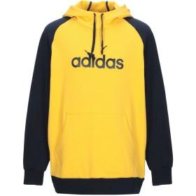 《期間限定 セール開催中》ADIDAS メンズ スウェットシャツ イエロー S コットン 100%