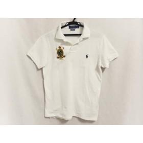 【中古】 ポロラルフローレン POLObyRalphLauren 半袖ポロシャツ サイズS メンズ 白 CUSTOM FIT