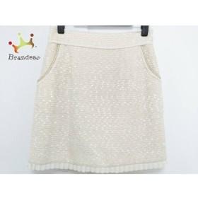アプワイザーリッシェ スカート サイズ2 M レディース 美品 アイボリー×ゴールド ツイード   スペシャル特価 20190814