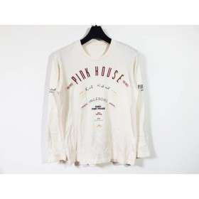 【中古】 ピンクハウス PINK HOUSE 長袖Tシャツ サイズM レディース アイボリー レッド ネイビー