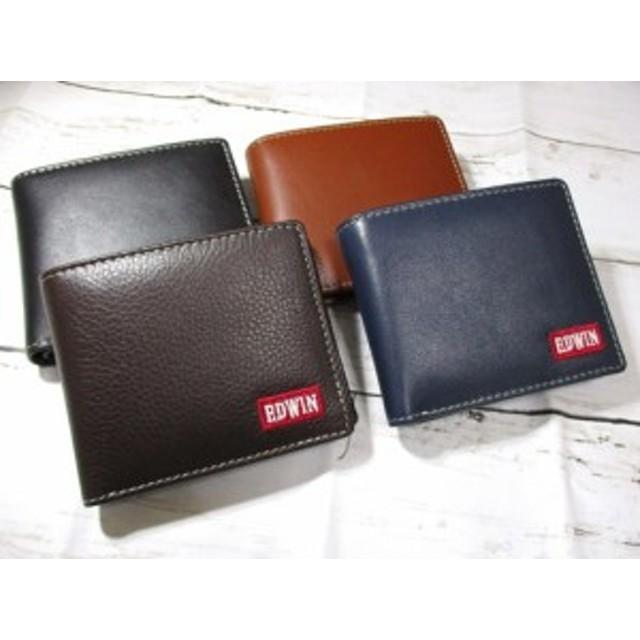 68135ba47a62 [新発売] EDWIN(エドウィン) 財布 二つ折り メンズ ブランド 牛革 レザー かわいい