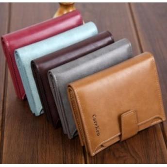 メンズ財布ショートボタン大容量ジッパーオイルワックスレザーファッション財布/メンズ/財布/人気
