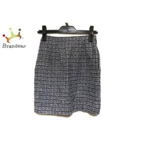 アプワイザーリッシェ スカート サイズ0 XS レディース 美品 黒×アイボリー×マルチ ラメ   スペシャル特価 20190814