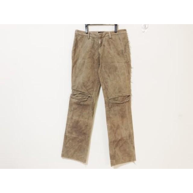 【中古】 リップヴァンウィンクル ripvanwinkle パンツ サイズM メンズ ダークブラウン ダメージ加工
