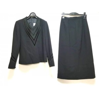 【中古】 ジュンアシダ JUN ASHIDA スカートセットアップ サイズ9 M レディース 黒