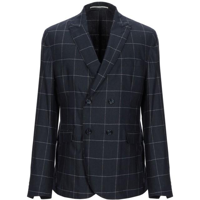 《期間限定セール開催中!》EXIBIT メンズ テーラードジャケット ダークブルー 50 ウール 50% / ナイロン 48% / 指定外繊維 2%