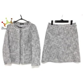 ニューヨーカー NEW YORKER スカートスーツ サイズ13 L レディース 白×黒 ツイード 新着 20190518