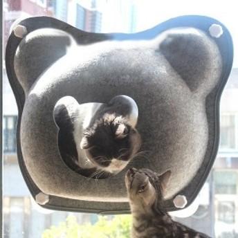 ペット用 猫 キャット ねこ 室内用 吸盤 ハンモック キャットタワー休憩 リラックス ベッド お昼寝 窓ガラス おしゃれ