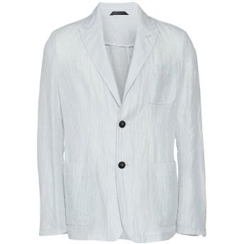 《期間限定セール開催中!》GIORGIO ARMANI メンズ テーラードジャケット ライトグレー 52 麻 47% / コットン 36% / ラミー 17%