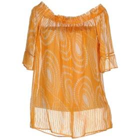 《セール開催中》PENNYBLACK レディース ブラウス オレンジ 40 94% シルク 6% 金属繊維