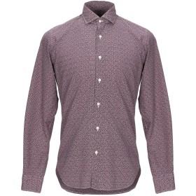 《セール開催中》XACUS メンズ シャツ ボルドー 38 コットン 100%