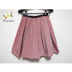 ジャスグリッティー JUSGLITTY スカート サイズ0 XS レディース 美品 ピンク×黒   スペシャル特価 20190807