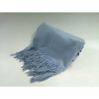 【中古】 プラステ PLS+T(PLST) ストール(ショール) 美品 ライトブルー 化学繊維