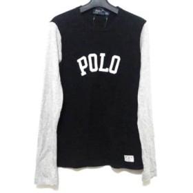 【中古】 ポロラルフローレン POLObyRalphLauren 長袖Tシャツ サイズXS レディース 黒 ライトグレー