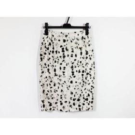 【中古】 マックスマーラスタジオ スカート サイズ38 M レディース アイボリー グレー 黒