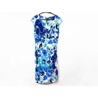 【中古】 ラルフローレン RalphLauren ワンピース サイズ8 M レディース 白 ブルー マルチ 花柄/DRESS