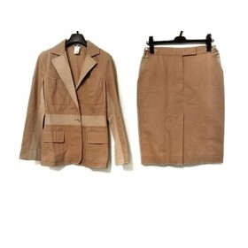 【中古】 チェザレファブリ CESARE FABBRI スカートスーツ レディース ブラウン